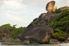 Rocky tropical coastline Royalty Free Stock Image