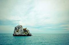 Rocky tropical island in gulf of Thailand Royalty Free Stock Image