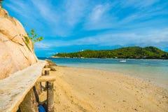 Rocky tropical sea beach Stock Photography