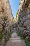 Rocky valley in Enchanted City , Cuenca,Spain Royalty Free Stock Photos