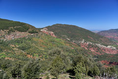 Rocky valley in Morocco High Atlas Stock Photos