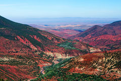 Rocky valley on the road from Marrakesh to Ouarzazate, Morocco Royalty Free Stock Images