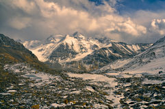 Rocky valley in Tajikistan royalty free stock photo