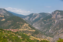 Rocky Valleys of Nortwestern Turkey Stock Images