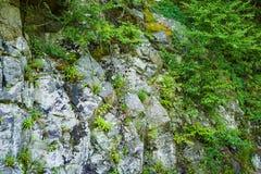 Rocky Wall Along Ridge Parkway azul, Virgínia, EUA - 2 fotografia de stock