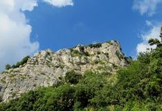 Rocky wall and green at Sentiero degli  Dei Stock Photos