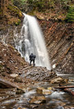 Rocky Waterfall in forest Royalty Free Stock Photo