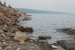 Rocky Waters Edge stock images
