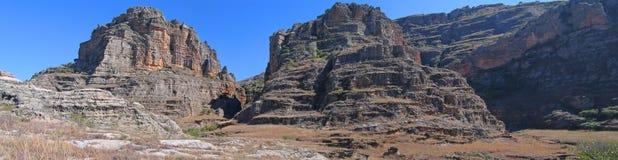 Rocky wild mountains, Isalo Stock Photos