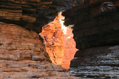 Rocky Window. Famous Australian National destination. Detail from a rocky canyon. Australia Royalty Free Stock Image
