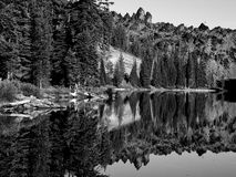 Rocky woods reflections Royalty Free Stock Image