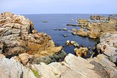 rocky wybrzeże Fotografia Royalty Free