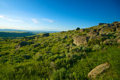 Rocky Wyoming Hillside Royalty Free Stock Photos