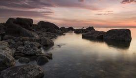 rocky, zachód słońca Obraz Stock