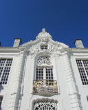 Rococo Architecture, Aalst. A very ornate exterior wall and clock (Rococo style) of the Town Hall in Aalst, East Flanders, Belgium Stock Photography
