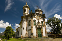 Rococo Architecture Style. The Church of Saint Francis of Assisi is a Rococo Catholic church in Ouro Preto, Brazil. Its erection began in 1766 after a design by stock photo