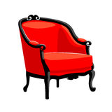 Rococo armchair. French classic Baroque furniture Royalty Free Stock Photos