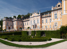 Rococo castle with park. Rococo castle Nove Hrady with park, Czech republic Royalty Free Stock Photos