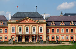 Rococo chateau. The rococo chateau in Dobris, Czech Republic royalty free stock photography