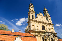 Rococo church of Ascension and monastery, Vilnius, Lithuania Stock Images