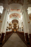 Rococo Church Kirchberg of Bad Hall. The charming Kaplaneikirche Kirchberg can be found to the north east of the abbey and is one of the most beautiful rococo Stock Photo
