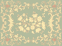 Rococo design. Seamless floral pattern in rococo style - vector illustration Stock Photo