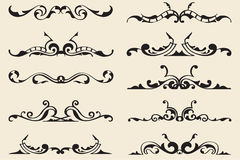 Rococo divide lines Stock Image