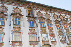 Rococo facade in the town of Wasserburg, Bavaria Royalty Free Stock Images