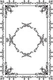 Rococo fine frame. Is on white Stock Photos