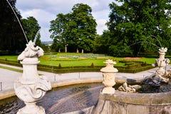 Rococo fountain. Fountain inside the old rococo garden of the castle of Cesky Krumlov Stock Photography