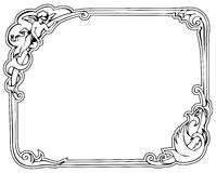 Rococo Frame. Image of ancient frame with leaves, ribbons etc Royalty Free Stock Image