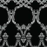 Rococo frame decor pattern. Vector French Luxury rich carved ornaments and Wall Frames. Victorian Royal Style frame Royalty Free Stock Images
