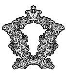 Rococo frame II. (illustration,  background,  vector Stock Photo