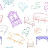 Rococo furniture pattern Royalty Free Stock Photography