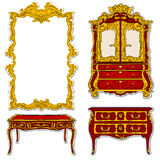 Rococo furniture stickers Stock Image