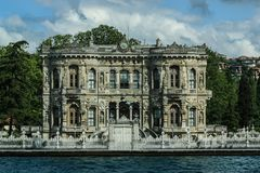 Rococo House on the shores of the Bosporus River in Istanbul, Tu royalty free stock image