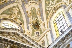 Rococo interior, Scicli, Sicily Royalty Free Stock Images