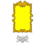 Rococo ornament frame Royalty Free Stock Photography