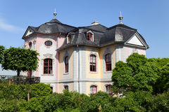 The Rococo palace. Of Dornburger Locks in Summer, popular tourist attraction stock image