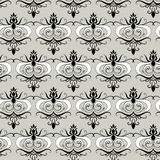 Rococo pattern. Including seamles sample in swatch panel (Illustrator Stock Photography