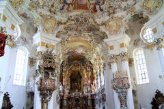 The rococo pilgrimage church, White church Beieren Germany. The rococo pilgrimage church, For the Savior Savior in Wies, which was included in the UNESCO World Stock Photography