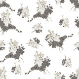 Rococo style neutral seamless vector background Royalty Free Stock Photo