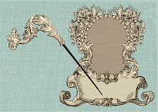 Rococo style vintage frame Royalty Free Stock Image