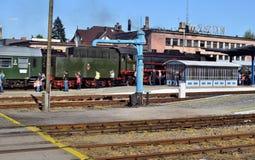 Roczna parada o parowych lokomotywach w Wolsztyn, Polska Obrazy Stock