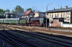 Roczna parada o parowych lokomotywach w Wolsztyn, Polska Obrazy Royalty Free