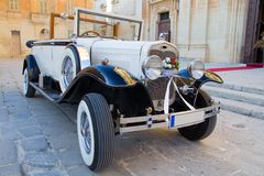 roczna samochodowy ślub zdjęcie royalty free