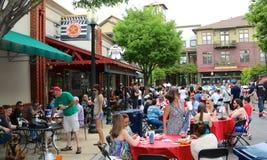 Rocznego schronienia raków Grodzki festiwal w W centrum Memphis fotografia royalty free