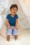 2 roczniaka chłopiec azjatykci uśmiech i szczęście Zdjęcia Stock