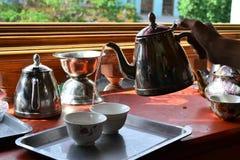 100 roczniaka Uyghur herbaciany dom w starym mieście Kashgar, Xinjiang, Chiny, Uyghur region autonomiczny obraz royalty free