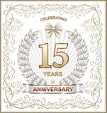 15 rocznica Obraz Royalty Free